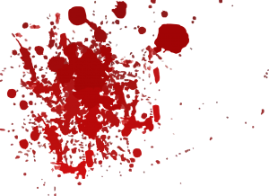 Menstruation blood splatter