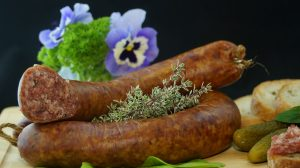 Sausage with flowers